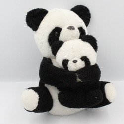 Peluche panda avec son bébé