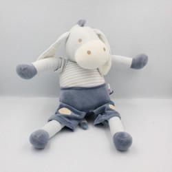 Grand Doudou ane cheval bleu SUCRE D'ORGE