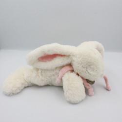 Doudou et compagnie lapin blanc rose tout doux Bonbon