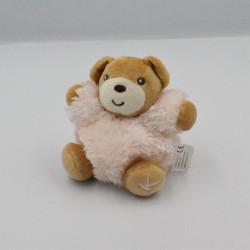 Mini Doudou ours rose fourrure Fur KALOO