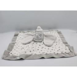 Doudou plat Dumbo l'éléphant gris blanc étoiles lange DISNEY NICOTOY
