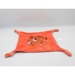 Doudou plat orange rouge Poisson Némo Disney Carrefour