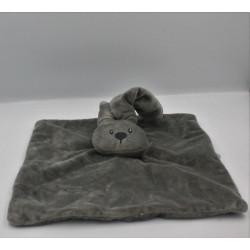 Doudou plat carré lapin gris Lapidou NATTOU