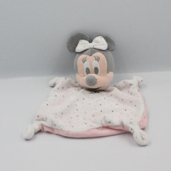 Doudou plat Minnie blanc rose étoiles DISNEY SIMBA TOYS