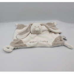 Doudou plat lapin blanc beige VACO