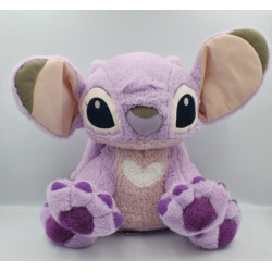 Peluche Angel de Lilo et Stitch mauve rose DISNEY