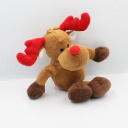 Doudou renne elan cerf marron rouge YVES ROCHER