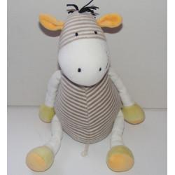 Doudou girafe zébre OBAIBI