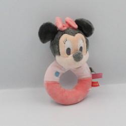 Doudou hochet Minnie rose planètes DISNEY