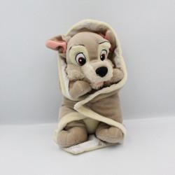 Doudou peluche chien Clochard avec mouchoir couverture DISNEY
