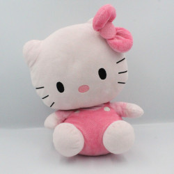 Grande peluche chat HELLO KITTY rose TY SANRIO LICENSE