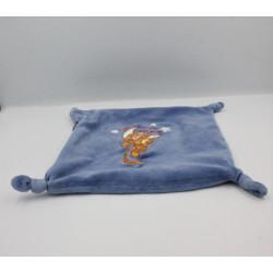 Doudou Plat zip Tigrou bleu Tigger Disney Baby