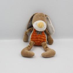 Doudou lapin marron orange Bengy 30 cm