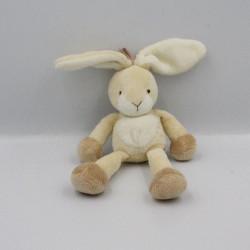 Mini Doudou lapin écru beige blanc NICOTOY 14 cm