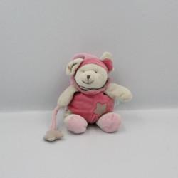 Doudou luminescent souris beige rose étoile BABY NAT