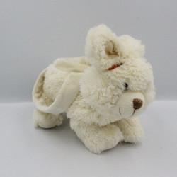 Doudou peluche sac lapin blanc FIZZY