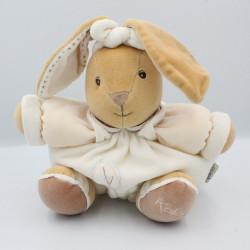 Doudou lapin beige écru feuille Pure KALOO