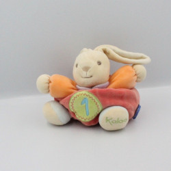 Doudou lapin rouge orange bleu mauve vert 1 KALOO