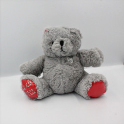 Doudou ours gris rouge BEAUTY SUCCESS NOEL 2014