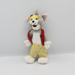 Peluche chat gris salopette jaune Tom de TOM ET JERRY