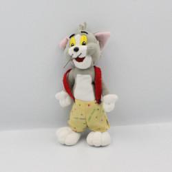 Peluche chat gris salopette jaune Tom de TOM ET JERRY