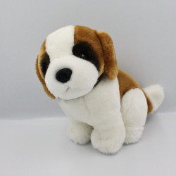 Peluche chien marron blanc collier TEDDY HERMANN