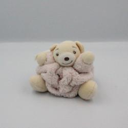 Doudou petit ours Plume rose clair KALOO
