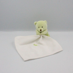Doudou Ours vert mouchoir Baby nat
