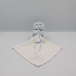 Doudou plat ours bleu ciel avec mouchoir Baby nat