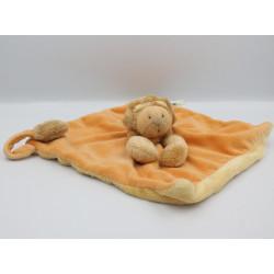 Doudou plat lion orange Les Zazous MOULIN ROTY