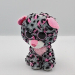 Peluche chat leopard gris rose Gros yeux brillant TY