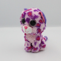 Peluche chat leopard rose Gros yeux brillant TY