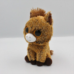 Peluche cheval poney marron Gros yeux brillant TY