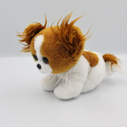 Peluche chien blanc marron Gros yeux brillant TY