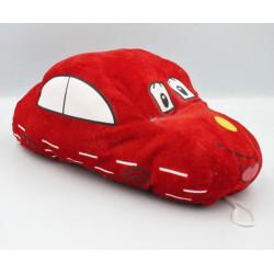 Doudou peluche voiture rouge