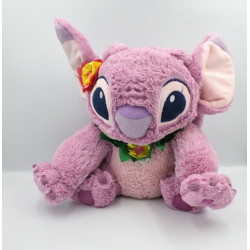 Peluche Angel rose collier de fleur Hawai Lilo et Stitch DISNEYLAND
