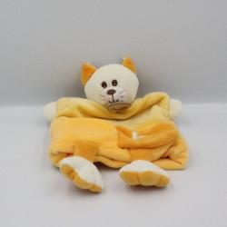 Doudou plat marionnette jaune C comme chat BABY NAT