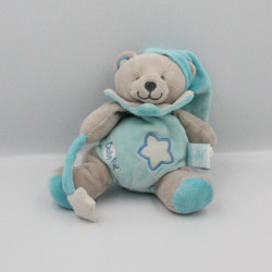 Doudou ours gris bleu étoile luminescent BABY NAT