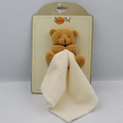 Doudou plat ours beige avec mouchoir Baby nat