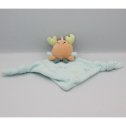 Doudou plat crabe orange bleu BERLINGOT