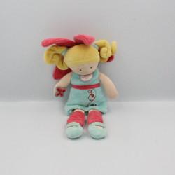 Doudou et compagnie poupée fée bleu rose Bleuet