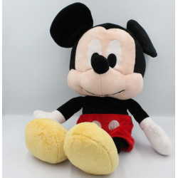 Grande peluche bébé Mickey noir rouge jaune DISNEY NICOTOY