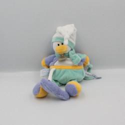 Doudou et compagnie pingouin vert bleu blanc Graines de doudou