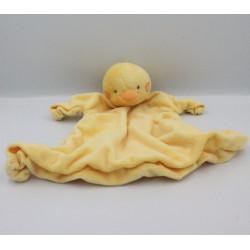 Doudou plat oiseau poussin jaune KIMBALOO