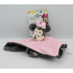Doudou plat Minnie rose gris DISNEY BABY