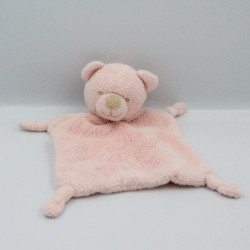 Doudou plat ours rose IKKS