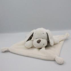 Doudou plat chien blanc beige étoiles INFLUX