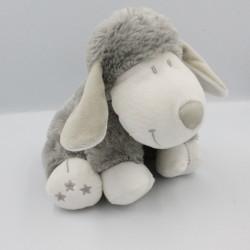 Doudou mouton gris blanc étoiles NICOTOY