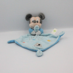 Doudou plat Mickey bleu planètes étoile DISNEY BABY