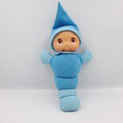 Doudou peluche veilleuse Luciole chenille bleu